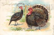hol061573 - Thanksgiving Old Vintage Antique Postcard Post Card