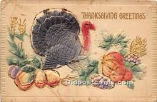 hol061581 - Thanksgiving Old Vintage Antique Postcard Post Card