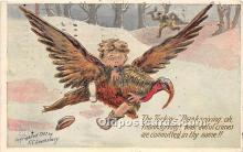 hol061585 - Thanksgiving Old Vintage Antique Postcard Post Card