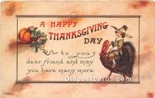 hol061586 - Thanksgiving Old Vintage Antique Postcard Post Card