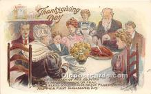 hol061591 - Thanksgiving Old Vintage Antique Postcard Post Card