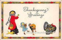 hol061592 - Thanksgiving Old Vintage Antique Postcard Post Card