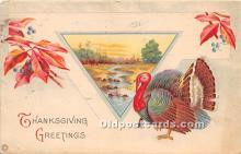 hol061593 - Thanksgiving Old Vintage Antique Postcard Post Card