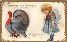 hol061596 - Thanksgiving Old Vintage Antique Postcard Post Card