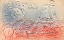 hol061597 - Thanksgiving Old Vintage Antique Postcard Post Card