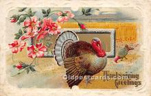 hol061598 - Thanksgiving Old Vintage Antique Postcard Post Card