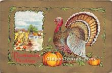 hol061600 - Thanksgiving Old Vintage Antique Postcard Post Card