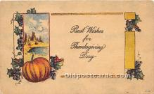 hol061608 - Thanksgiving Old Vintage Antique Postcard Post Card