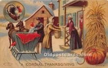hol061614 - Thanksgiving Old Vintage Antique Postcard Post Card