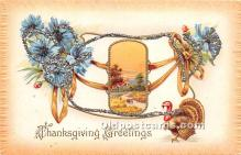 hol061616 - Thanksgiving Old Vintage Antique Postcard Post Card