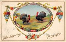 hol061624 - Thanksgiving Old Vintage Antique Postcard Post Card