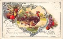 hol061626 - Thanksgiving Old Vintage Antique Postcard Post Card