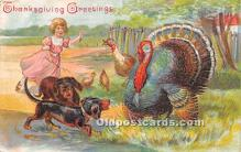 hol061627 - Thanksgiving Old Vintage Antique Postcard Post Card