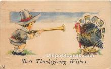 hol061630 - Thanksgiving Old Vintage Antique Postcard Post Card