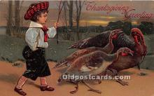hol061634 - Thanksgiving Old Vintage Antique Postcard Post Card
