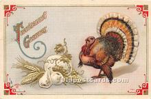 hol061636 - Thanksgiving Old Vintage Antique Postcard Post Card