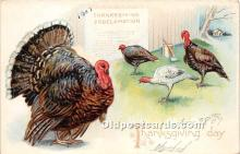 hol061641 - Thanksgiving Old Vintage Antique Postcard Post Card