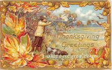 hol061642 - Thanksgiving Old Vintage Antique Postcard Post Card
