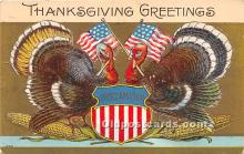 hol061644 - Thanksgiving Old Vintage Antique Postcard Post Card