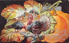 hol061649 - Thanksgiving Old Vintage Antique Postcard Post Card