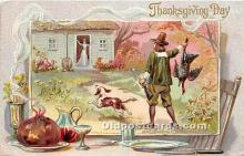 hol061650 - Thanksgiving Old Vintage Antique Postcard Post Card