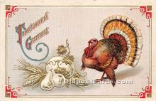 hol061651 - Thanksgiving Old Vintage Antique Postcard Post Card