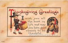 hol061652 - Thanksgiving Old Vintage Antique Postcard Post Card