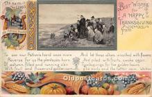 hol061658 - Thanksgiving Old Vintage Antique Postcard Post Card