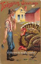 hol061675 - Thanksgiving Old Vintage Antique Postcard Post Card