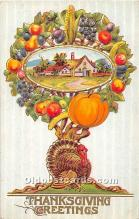 hol061677 - Thanksgiving Old Vintage Antique Postcard Post Card