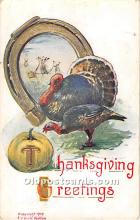 hol061683 - Thanksgiving Old Vintage Antique Postcard Post Card