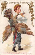 hol061688 - Thanksgiving Old Vintage Antique Postcard Post Card