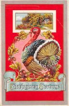 hol061689 - Thanksgiving Old Vintage Antique Postcard Post Card