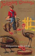 hol061698 - Thanksgiving Old Vintage Antique Postcard Post Card