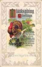 hol061699 - Thanksgiving Old Vintage Antique Postcard Post Card