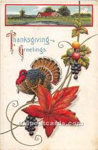 hol061701 - Thanksgiving Old Vintage Antique Postcard Post Card