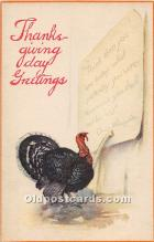 hol061708 - Thanksgiving Old Vintage Antique Postcard Post Card