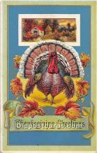 hol061719 - Thanksgiving Old Vintage Antique Postcard Post Card