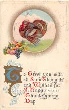 hol061727 - Thanksgiving Old Vintage Antique Postcard Post Card