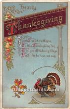 hol061728 - Thanksgiving Old Vintage Antique Postcard Post Card