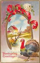 hol061729 - Thanksgiving Old Vintage Antique Postcard Post Card
