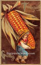 hol061730 - Thanksgiving Old Vintage Antique Postcard Post Card