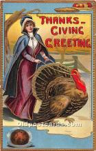 hol061731 - Thanksgiving Old Vintage Antique Postcard Post Card