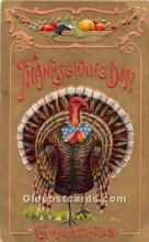 hol061733 - Thanksgiving Old Vintage Antique Postcard Post Card
