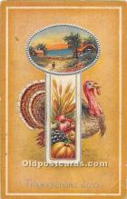 hol061735 - Thanksgiving Old Vintage Antique Postcard Post Card