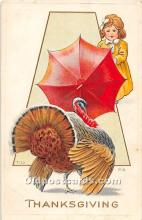 hol061740 - Thanksgiving Old Vintage Antique Postcard Post Card