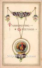 hol061742 - Thanksgiving Old Vintage Antique Postcard Post Card