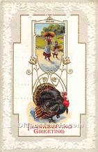 hol061744 - Thanksgiving Old Vintage Antique Postcard Post Card