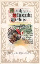 hol061748 - Thanksgiving Old Vintage Antique Postcard Post Card