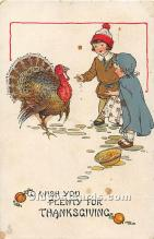 hol061751 - Thanksgiving Old Vintage Antique Postcard Post Card